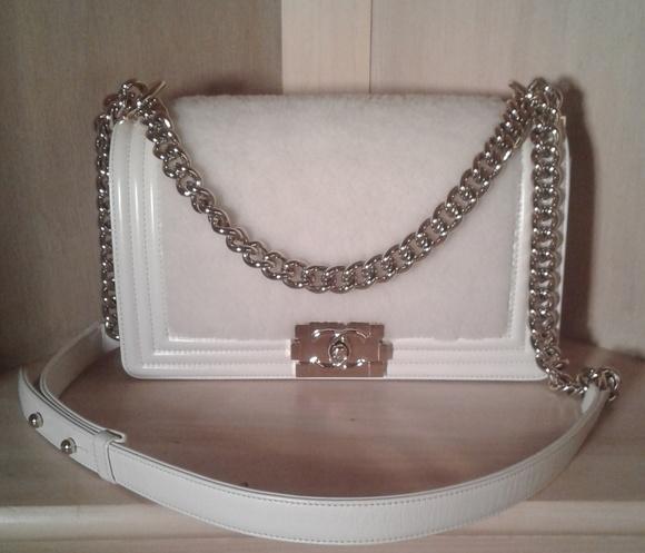 75578ba2284c CHANEL Handbags - Authentic Chanel Shearling Fur Le Boy Flap Purse